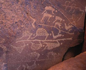 Rock engravings at Burrup Peninsula